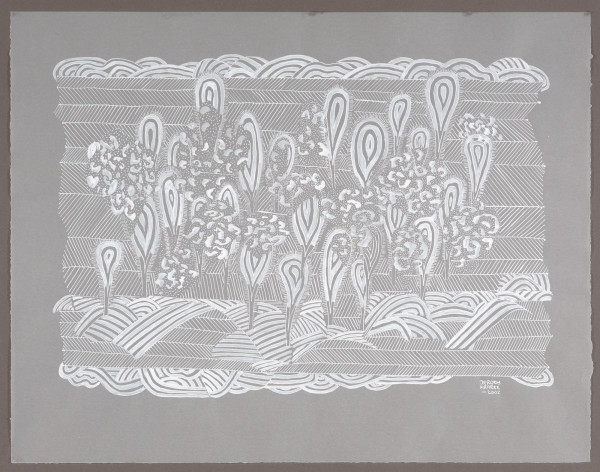 White drawing 3 (2002) | mixed media – 36x47cm – #29347