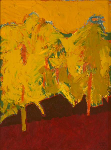 Malaysian landscape – Two Trees (1994) | oil painting – 40x30cm – #79092