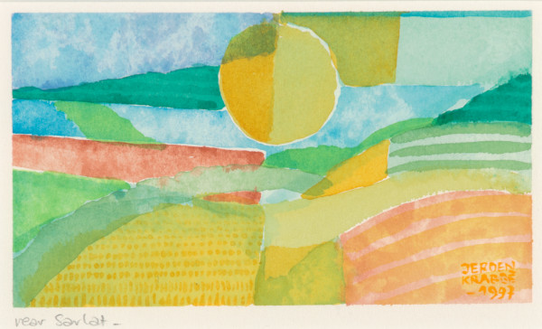 Near Sarlat – France (1997) | watercolour – 9x15cm – #79233