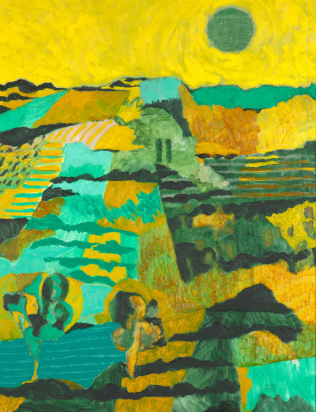French landscape (1997) | oil painting – 90x70cm – #79267
