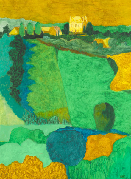 The house at Chevigny -France (1998) | oil painting – 80x60cm – #79270