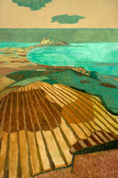 View on St Michael's Mount, Penzance, Cornwall (1998) | oil painting – 150x100cm – #79293