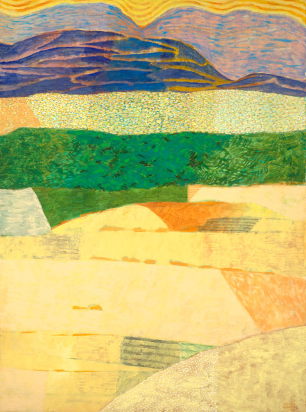 Ouar Zazate revisited – the oasis (2001) | oil painting – 135x100cm – #79323