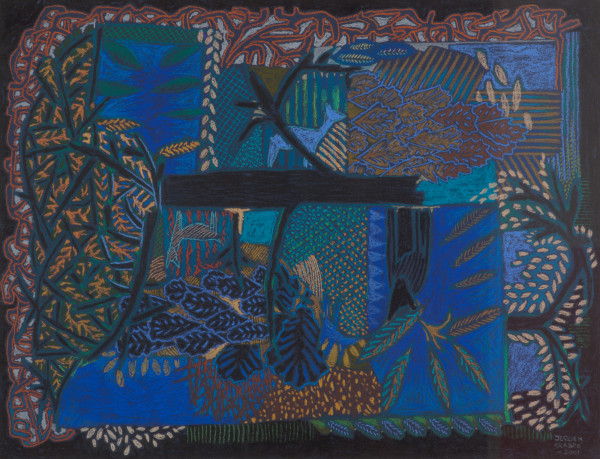 Encounter with two deer and a cat (2003) | mixed media – 50x65cm – #79390