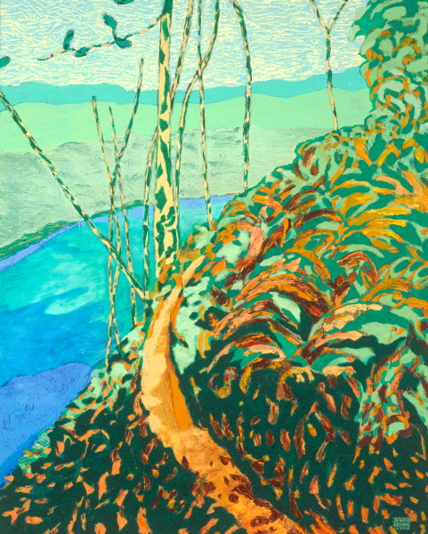 Queen Charlotte Track, New Zealand (2006) | oil painting – 80x100cm – #79530