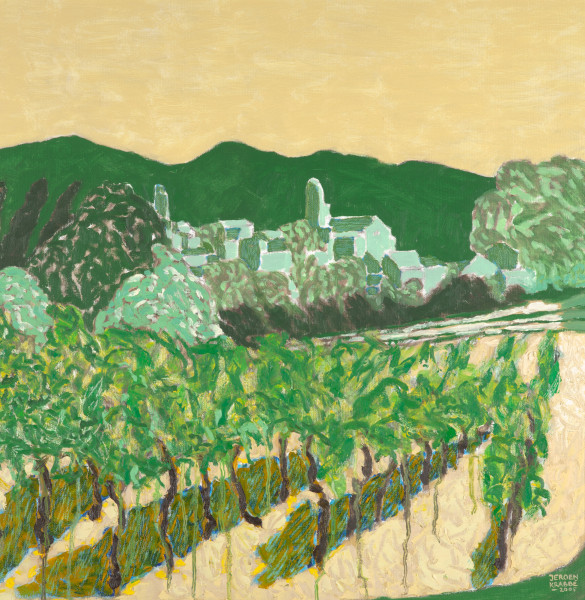 Puymeras, Provence (2005) | oil painting – 60x60cm – #79547
