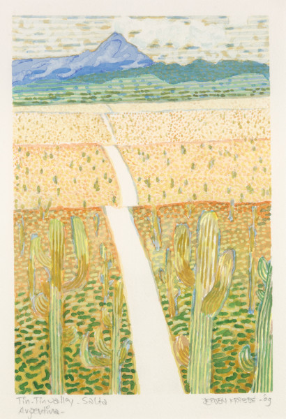 Tin-Tin Valley – Salta – Argentina (2009) | watercolour – 20x29cm – #79635