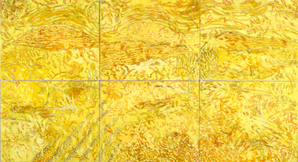 Provence, July (2010) | oil painting – six piece – 90x166cm – #79657