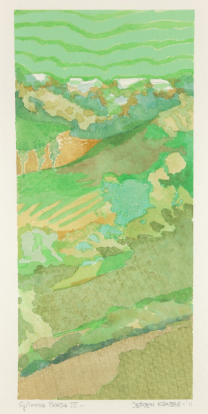 Spinosa Bassa III Italy  (2011) | watercolour – 33x15cm – #80002